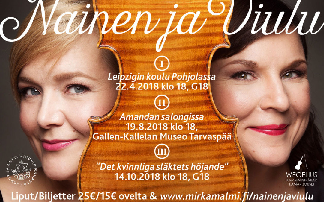 Mirka Malmin suunnittelema Nainen ja viulu -konserttisarja nostaa esiin unohtuneita naissäveltäjiä