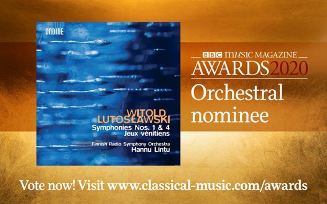 Nyt kaikki ystävät äänestämään RSO:n Lutoslawski-levy parhaaksi orkesterilevytyk…